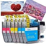 ouguan® - cartuccia di inchiostro compatibile per brother lc3213 lc-3213 per mfc-j890dw mfc-j491dw mfc-j497dw mfc-j895dw dcp-j772dw dcp-j774dw dcp-j572dw (2 ciano 2 magenta 2 giallo)
