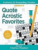 Quote Acrostic Favorites: Features 50 Rewarding Puzzles (Puzzle Books for Fun)