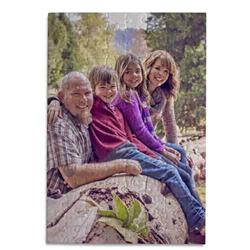 Kopierladen Karnath GmbH Fotopuzzle mit Glitzereffekt - Puzzle mit eigenem Bild selbst gestalten - 120 Teile, 29 x 20 cm - Fotogeschenk - optional mit Geschenkschachtel