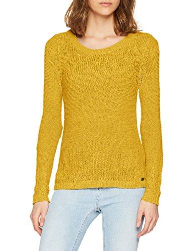 ONLY Damen Pullover onlGEENA XO L/S KNT NOOS, Gelb (Golden Yellow), 40 (Herstellergröße: L)