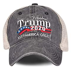 ✅ 【WEAR THIS HAT & MAKE A STATEMENT】 If you are looking for cool and patriotic hats to wear on a daily basis, then we got you covered. We proudly present you this great Donald Trump hat. Keep America Great/Make America Great Again by simply wearing i...