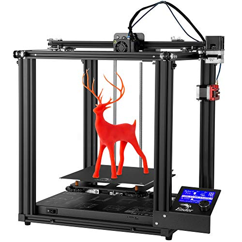 Impresora 3D Creality Ender-5 Pro, nueva Ender-5 mejorada con placa base silenciosa, tubo de PTFE Capricornio, máquina de extrusión de metal
