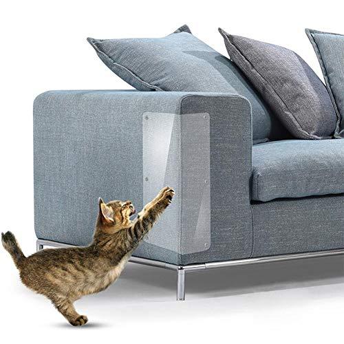 01 Kratzbrett für Katzen, transparent, rutschfest, selbstklebend, für den Innenbereich, Tisch und Sofa