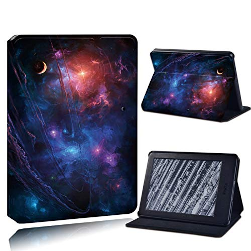XINJIEJIE Caja para Amazon Kindle Paperwhite 1/2/3/Paperwhite(5Th/6Th/7Th/10Th)/Kindle (10Th /8Th) 6 Pulgadas Anti-Fall Tablet Case Star and Galaxy Print Pattern Drop Resistance Protective Cover