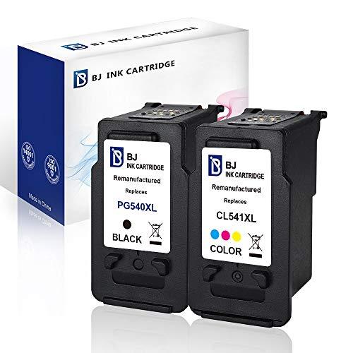 BJ Cartuchos de tinta remanufacturados para Canon PG-540 CL-541 para Canon Pixma MG4250 MG3650 MG3550 MG2250 MG3250 MG3600 MX475 MX395 MX535 MX375 MX525(1 negro, 1 color) )