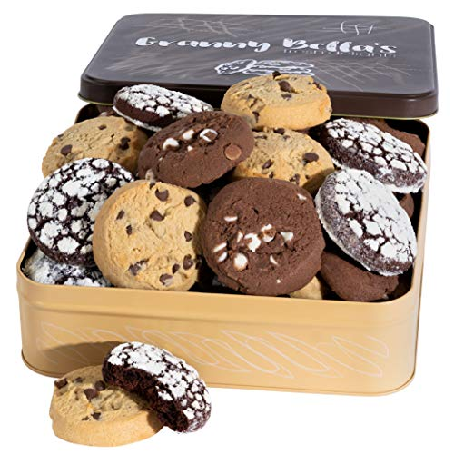 Granny Bella Soft Chocolate Chip Cookie Gift Basket for Women, 27 Homemade Fresh Bakery Cookies for...