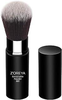 メイクブラシ 化粧筆 化粧用ブラシ 1本 伸縮式デザイン 携帯用 フェイスブラシ パウダーブラシ 人工繊維 超柔らかい 多機能 チークブラシ