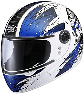 Studds Chrome Helmet D3 White N1 (L)