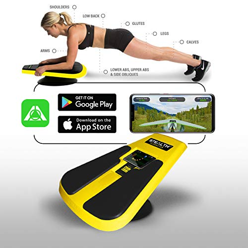 Stealth Core Trainer Plankster - Full Core/Body Workout While Playing Games; Free iOS/Android Training App; Includes Online Competitions and Coaching; Build Muscle, Lose Body Fat in 3 Minutes A Day