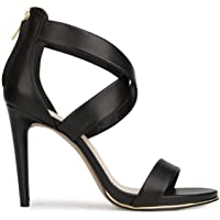 Kenneth Cole Women's Brooke Criss Cross Strappy Dress Sandal Heeled (Black)