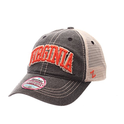 ZHATS Virginia Cavaliers Women's Dixie Adjustable Snapback Cap - NCAA Trucker Mesh, One Size Ladies Baseball Hat