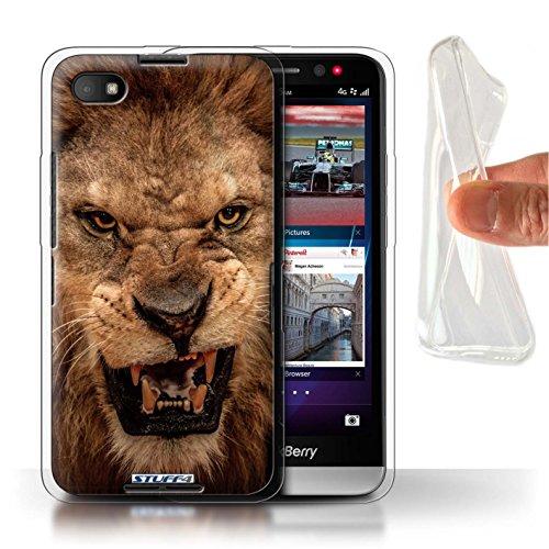 Hülle Für BlackBerry Z30 Wilde Tiere Löwe Design Transparent Dünn Flexibel Silikon Gel/TPU Schutz Handyhülle Case