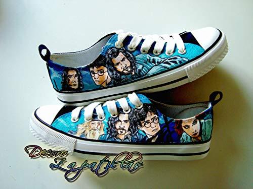 Zapatillas customizadas personalizados lona Harry Potter, regalos para cumpleaños - regalos para el - regalos para ella - regalos aniversario - San Valentin