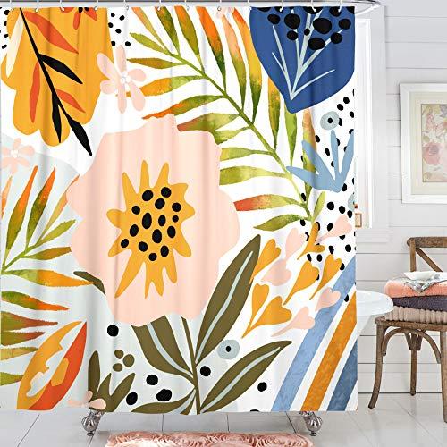 Zussun Duschvorhang-Set mit grafischem Muster, wasserdicht, 182,9 x 182,9 cm, Standardgröße