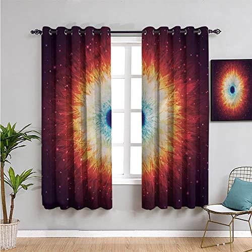 Xlcsomf Cortina espacial linda cortina, 213,4 cm de largo galaxia con estrellas mágicas, fácil de instalar, 213,4 cm de ancho x 84 cm de largo.
