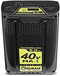 Kobalt 40-volt Max 5.0ah Amp Hours Rechargeable Lithium Ion Cordless Power Equipment Battery