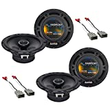 Harmony Audio R65 Factory Replacement Speaker Upgrade Package Compatible with Honda CRV 1997-2006