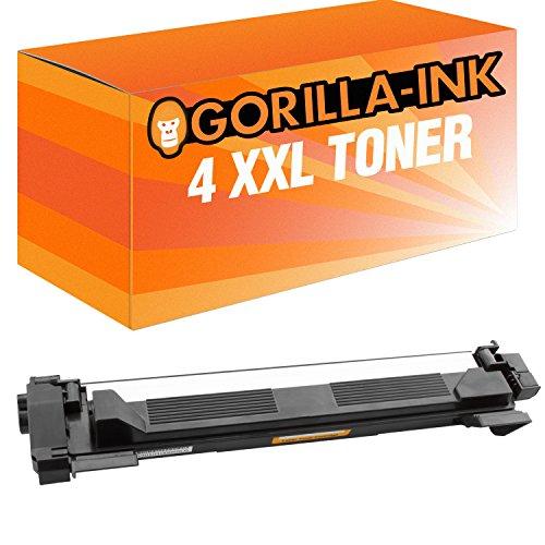 Gorilla-Ink® 4X XXL Toner Compatibile Nero Per Brother TN 1050HL 1110HL 1110e HL 1110r HL 1201HL di 1210W 1211W