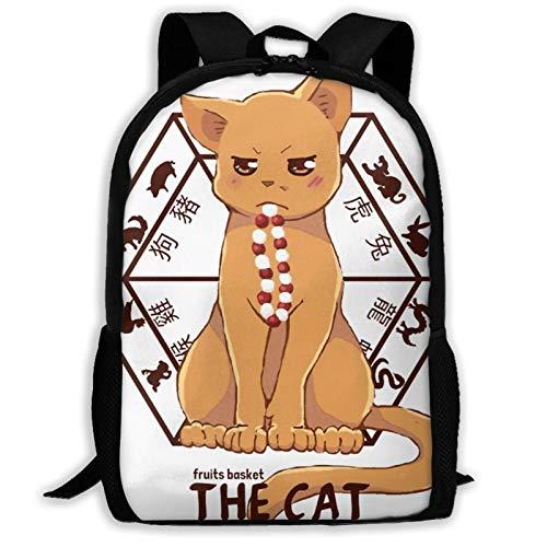 Kyo The Cat Laptop Computer Bag,Travel Daypack,Outdoor Shoulder Bag,Waterproof Gym Bag,Man Women Casual Backpacks,College School Rucksack