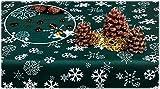 GOLDMAR: Elegante mantel de Navidad de 100% poliéster, antimanchas, fácil de limpiar, para Navidad, fiestas, cenas de Navidad (redondo, 100 cm, color verde oscuro)