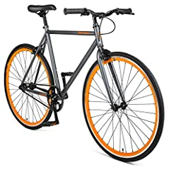 Includes a flip-flop hub so you can ride fixed or with a freewheel Premium hand-built, tig-welded, high-tensile strength steel frame absorbs the bumps in the road and is as durable as can be Comes standard with 30mm deep-v rims, Kenda Kwest 700 x 28C...