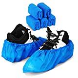 Green Convenience 50 Pack(25 Pairs)Disposable Shoe Covers Boot Cover Waterproof, Dust proof, One Size Fit Most, Non-slip, Blue, Protect Your Shoes, Floor, Carpet