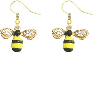 cf41fde6a Satr and Sea Cute Crystal Flying Bee Animal Inspiration Pendant Necklace  Girl Women