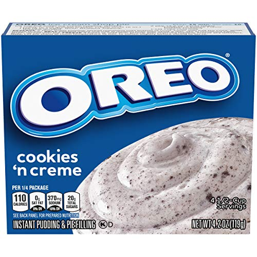 Jell-O Oreo Cookies n' Creme Instant Pudding Mix, 4.2 oz Box (Pack of 24)
