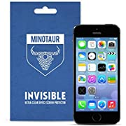 Minotaur Screen Protector for iPhone SE (2016) and iPhone 5S / 5C / 5, Super Clear (6 Screen Protectors)