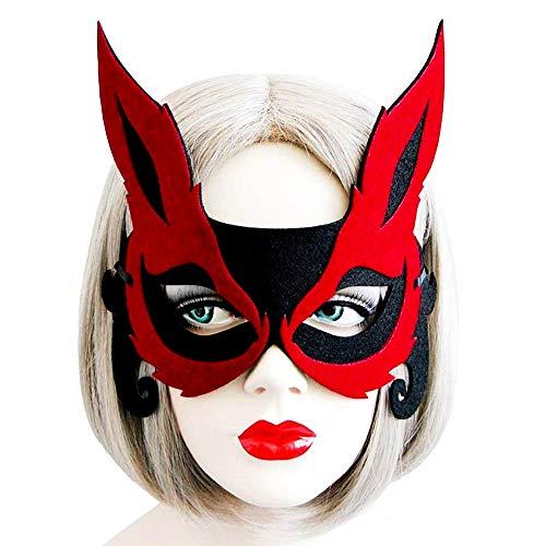 Kat vrouw kat masker - met oren - stof - zwart - origineel idee van de verjaardag van kerstmis verjaardag