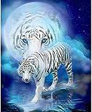 UYRT Puzzle de Madera 3000 Piezas White Tiger Puzzle de Madera Juegos de Rompecabezas de Madera IQ Challenge Toy Juego Mental Juego de Regalo para niños y Adolescentes