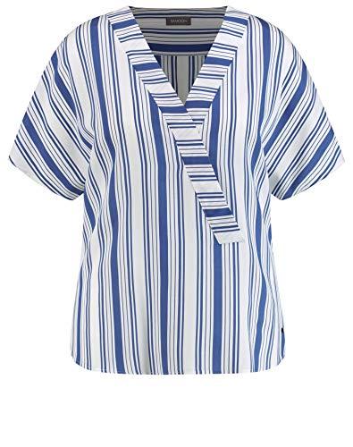 Samoon Damen Tunika Im Streifen-Design Leger Peacock Blue Gemustert 50