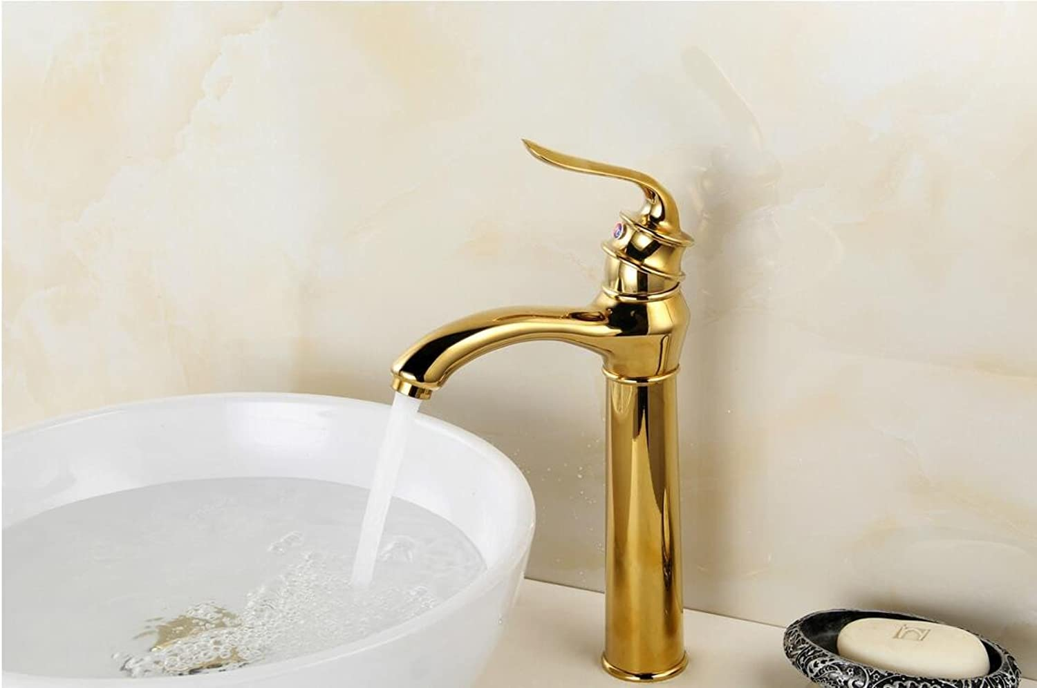 Makej Cold Hot Water Faucet taps Plated