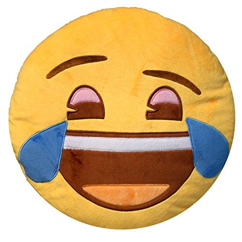 Acan Cojín Emoticono lágrimas de Risa Bordado 33 cm Emoji® Oficial ✅