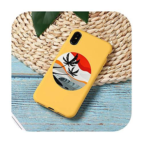 Hot Sea Wave Surf Summer Surf Ocean Phone Case Color Candy para iPhone 11 12 Mini Pro XS MAX 8 7 6 6S Plus X SE 2020 XR-a3-6Plus 6SPlus