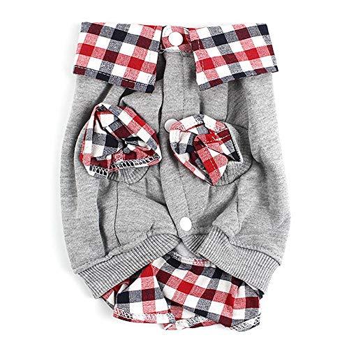 ZCY Winter-hondenhemd kleding voor huisdieren hond warm kleding pullover kostuum jas mantel 2 poten, Metro, Grijs