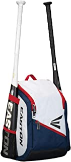 EASTON GAME READY Youth Bat & Equipment Backpack Bag | Baseball Softball | 2019 | 2 Bat Pockets or for Water Bottles | Vented Main Compartment | Vented Shoe Pocket | Valuables Pocket | Fence Hook
