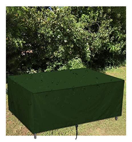 Rectangular Funda para Muebles de Jardín 210D Tela de Oxford para Mesa al Aire Libre, Asientos Protección contra el Sol, la Lluvia y el Polvo,124x68x101cm,Verde