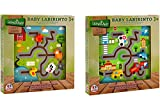 Globo Toys Globo–3743825x 25x 2.5cm 2Surtidos Legnoland Labyrinth Puzzle de Madera