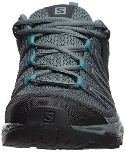 Salomon Women's Pathfinder Hiking Shoes, Stormy Weather/Phantom/Tropical Green, 9 B US