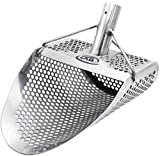 CKG Metal Detecting Sand Scoop 11' x 8' Stainless Steel Shovel for Beach Treasure Hunting Designed with 7mm Hexagon Shaped Holes