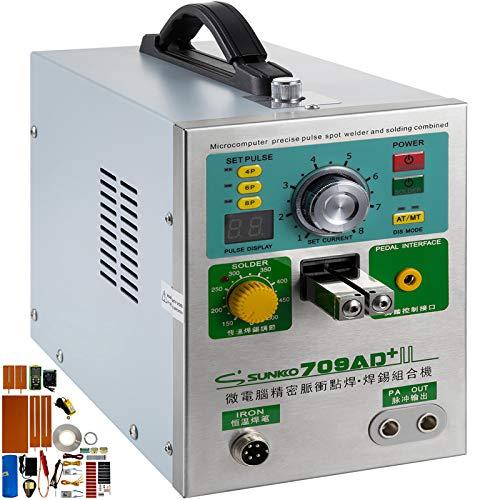 Mophorn 709AD+ Pulse Spot Welder 0.3mm Battery Welding Machine 110V Battery Spot Welder & Battery Tester Soldering Station Portable Pulse Welding Machine For Battery Pack 18650 14500