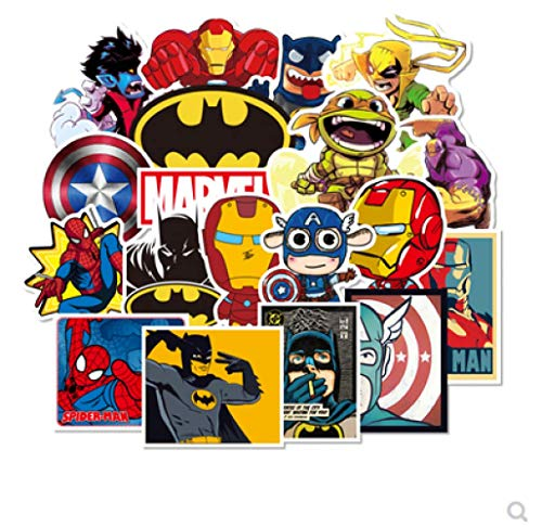 DSSJ Etiqueta engomada de la Maleta de Deadpool Etiqueta engomada de la Maleta de la Guitarra de Superman Thor 100 Piezas