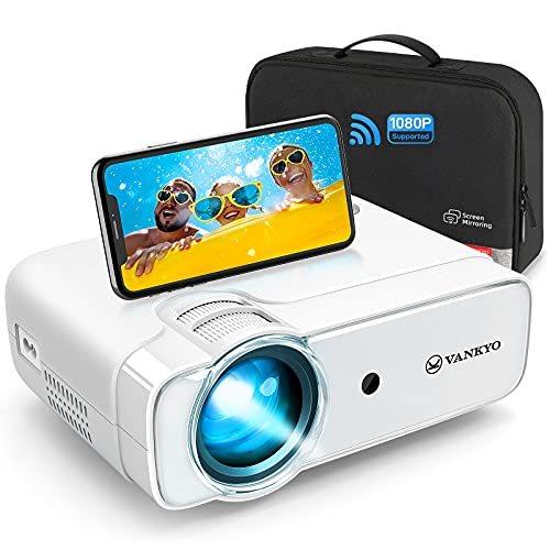 vankyo Mini Projector, WiFi Wireless Projector with Bag, Full HD 1080P Supported, 236