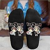 Sweetundrro17 1 Paar Anime Haikyuu Sneaker Socken Sportsocken Baumwolle Kurzsocken(one size Toru Oikawa und Koshi Sugawara)