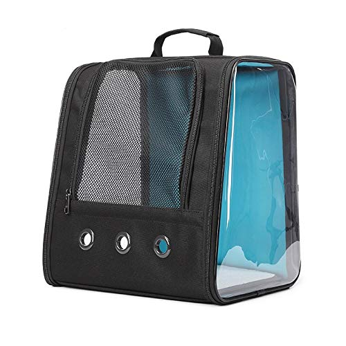 ghn Breathable portable pet backpack Pet Carrier Backpack Transparent Window Cat Carrier Breathable Anti-Scratch Mesh Travel Cat Bag Pet Backpack for Small Dog Black travel backpack pet supplies