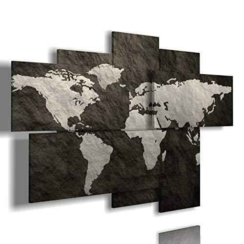 duudaart Quadro Mappa del Mondo Moderno 3D multilivello Quadri Moderni