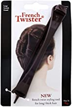 Mia French Twister, Updo Styling Tool, French Twist Bun Maker, Large Size, For Long and/or Thick Hair, Brown, For Women, Girls, Brides, PATENTED 1pc