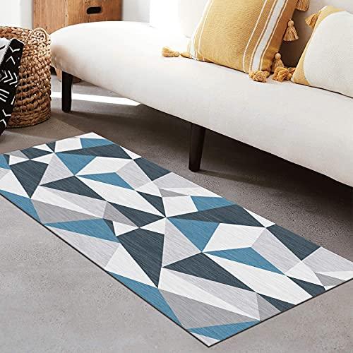 QIANGZI Alfombra para pasillo antideslizante, resistente a la suciedad para pasillo, piso de cocina, pasillo, pasillo y pasillo lavable (tamaño: 120 x 450 cm, color: A)