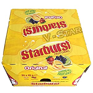 full box of starburst fruit chews (24 x 45g) (original) Full Box of STARBURST FRUIT CHEWS (24 X 45g) (Original) 51gWyTnlbwL